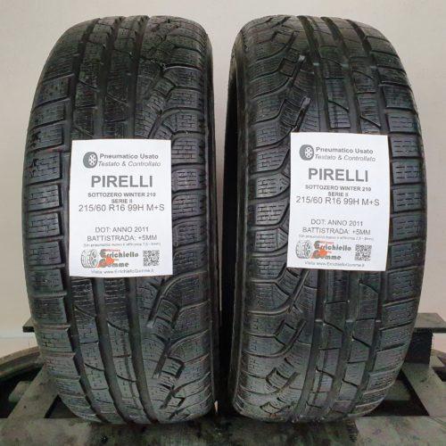 215/60 R16 99H M+S Pirelli Sottozero Winter 210 Serie 2 – 60% +5mm – Gomme Invernali