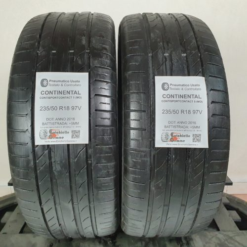 235/50 R18 97V Continental ContiSportContact 5 (MO) – 60% +5mm Gomme Estive