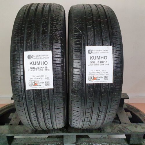 225/55 R19 99H M+S Kumho Solus KH16 – 60% +5mm Gomme 4 Stagioni