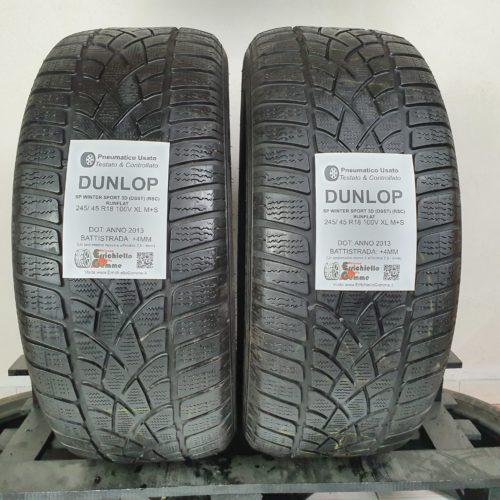 245/45 R18 100V XL M+S Dunlop SP Winter Sport 3D (DSST) (RSC) Runflat – 50% +4mm Gomme Invernali