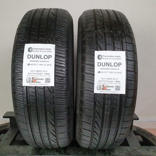 225/65 R17 106V XL M+S Dunlop GrandTrek Touring A/S – 60% +5mm – Gomme 4 Stagioni