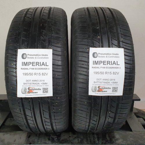 195/50 R15 82V Imperial Radial F109 EcoDriver 3 – 60% +5mm – Gomme Estive