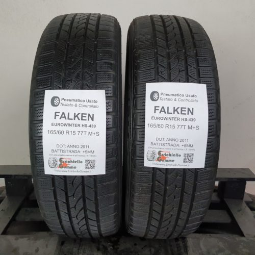 165/60 R15 77T M+S Falken EuroWinter HS-439 – 60% +5mm – Gomme Invernali