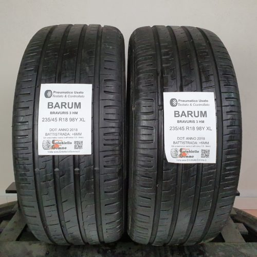 235/45 R18 98Y XL Barum Bravuris 3 HM – 70% +6mm – Gomme Estive