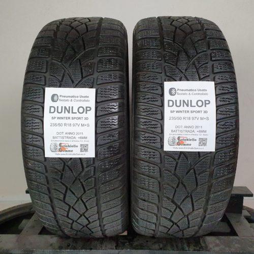 235/50 R18 97V M+S Dunlop SP Winter Sport 3D –  70% +6mm – Gomme Invernali