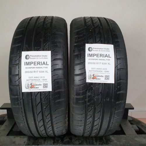 205/50 R17 93W XL Imperial EcoSport Radial F105 –   60% +5mm – Gomme Estive