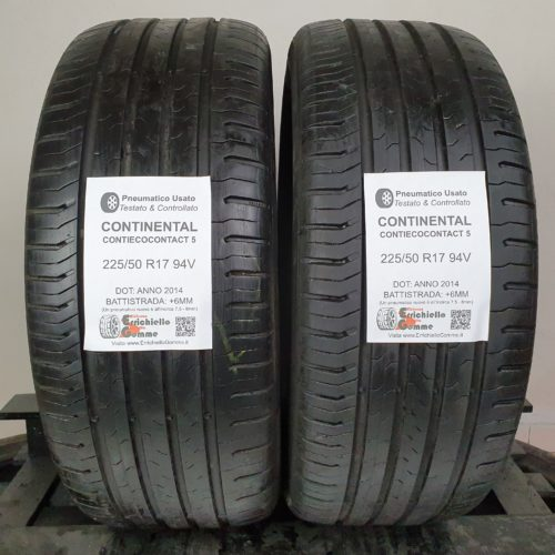 225/50 R17 94V Continental ContiEcoContact 5 – 70% +6mm – Gomme Estive