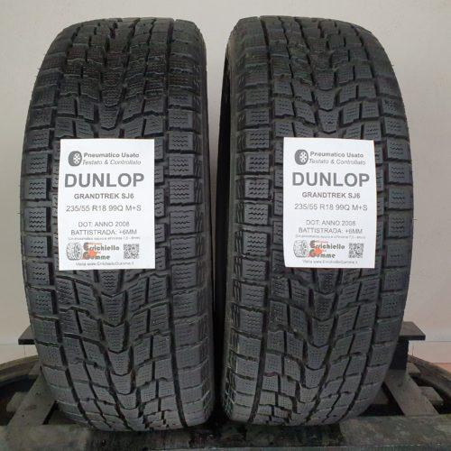 235/55 R18 99Q M+S Dunlop GrandTrek SJ6 –  70% +6mm – Gomme Invernali