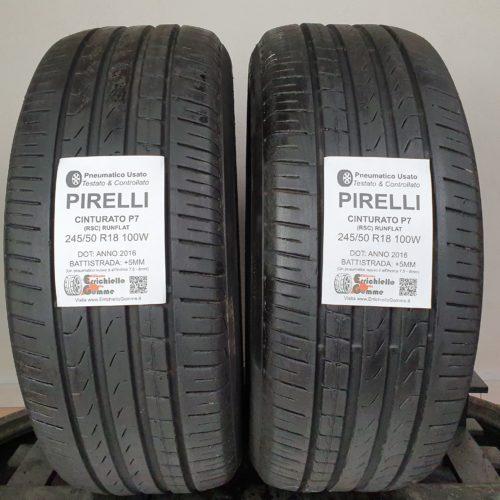 245/50 R18 100W Pirelli Cinturato P7 (RSC) Runflat – 60% +5mm – Gomme Estive