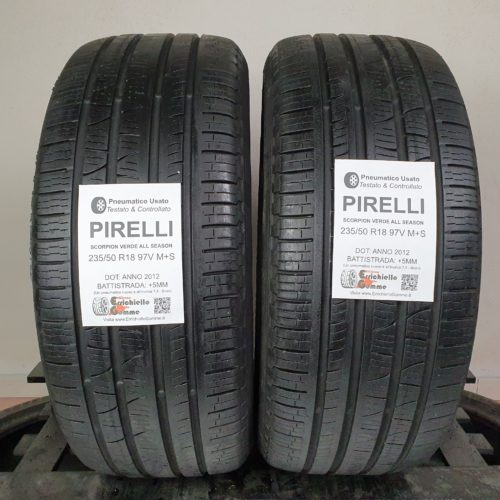 235/50 R18 97V M+S Pirelli Scorpion Verde All Seasons – 60% +5mm – Gomme 4 Stagioni