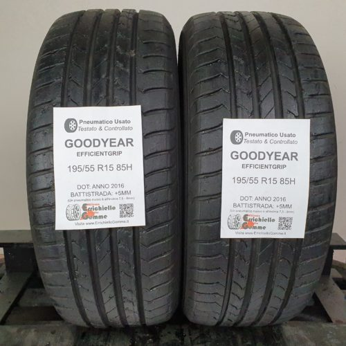 195/55 R15 85H Goodyear EfficientGrip – 60% +5mm – Gomme Estive