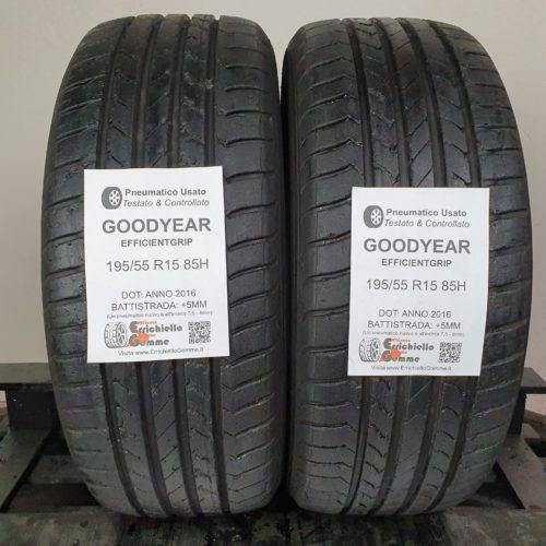 195/55 R15 85H Goodyear EfficientGrip – 60% +5mm – Gomme Estive