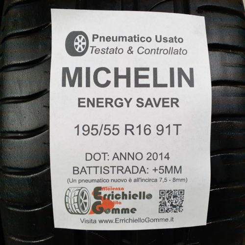 195/55 R16 91T Michelin Energy Saver – 60% +5mm – Gomme Estive
