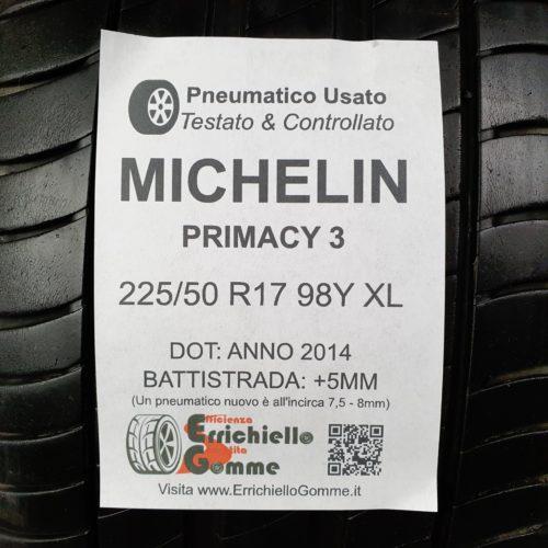 225/50 R17 98Y XL Michelin Primacy 3 – 60% +5mm – Gomme Estive