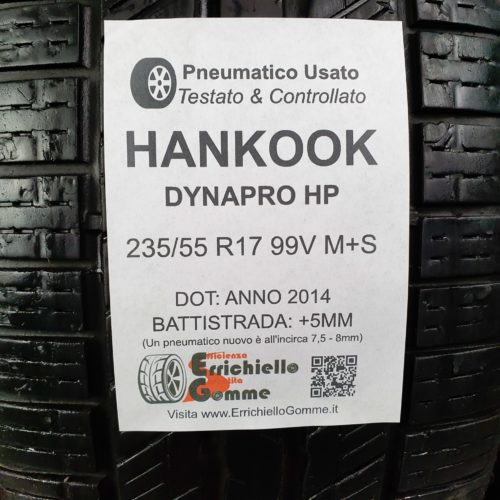 235/55 R17 99V M+S Hankook Dynapro HP –  60% +5mm – Gomme 4 Stagioni