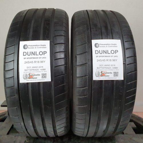 245/45 R18 96Y Dunlop SP SportMaxx GT – 50% +4mm – Gomme Estive
