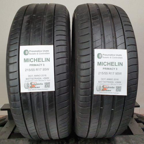 215/55 R17 95W Michelin Primacy 3 – 60% +5mm – Gomme Estive