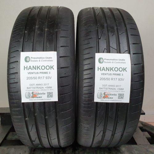 205/50 R17 93V Hankook Ventus Prime 3 – 60% +5mm – Gomme Estive