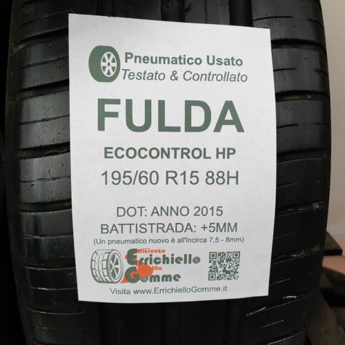 195/60 R15 88H Fulda EcoControl HP – 60% +5mm – Gomme Estive