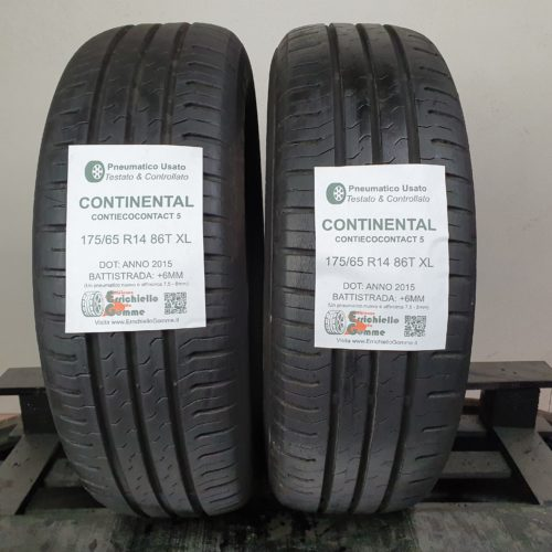 175/65 R14 86T XL Continental ContiEcoContact 5 – 70% +6mm – Gomme Estive