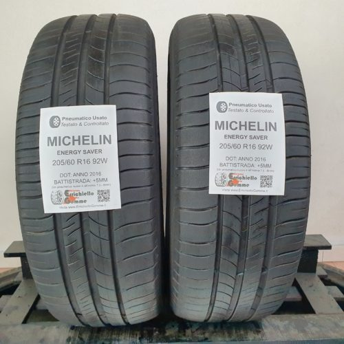 205/60 R16 92W Michelin Energy Saver – 60% +5mm – Gomme Estive