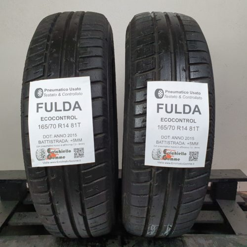 165/70 R14 81T Fulda EcoControl – 60% +5mm – Gomme Estive