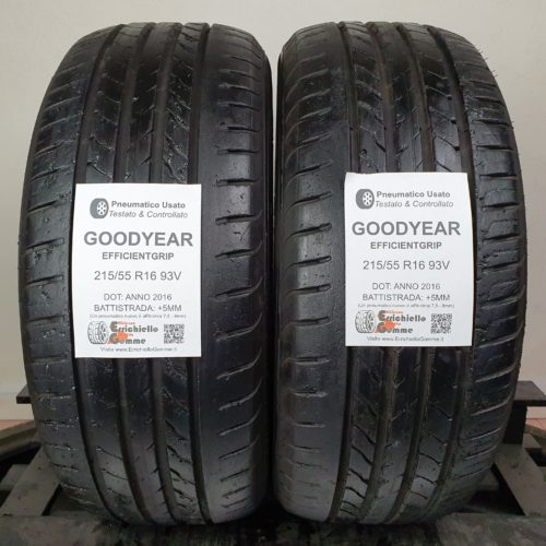 215/55 R16 93V Goodyear EfficientGrip – 60% +5mm – Gomme Estive