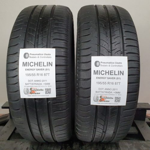195/55 R16 87T Michelin Energy Saver – 60% +5mm – Gomme Estive