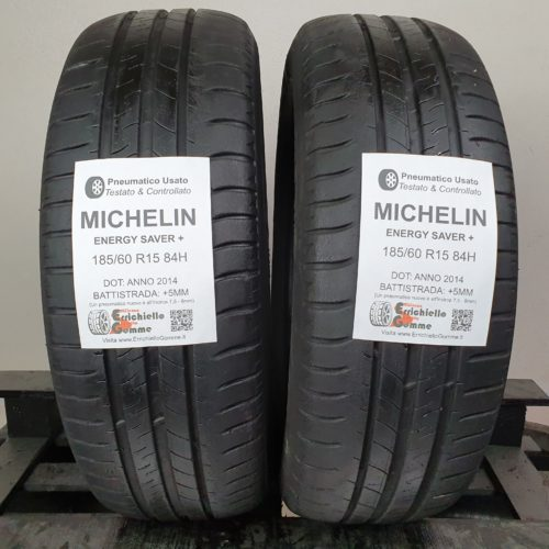 185/60 R15 84H Michelin Energy Saver+ – 60% +5mm – Gomme Estive