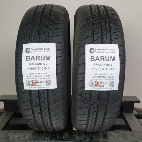 175/65 R15 84T Barum Brillantis 2 –  60% +5mm – Gomme Estive
