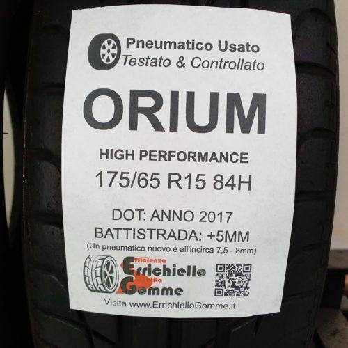 175/65 R15 84H Orium High Performance –  60% +5mm – Gomme Estive