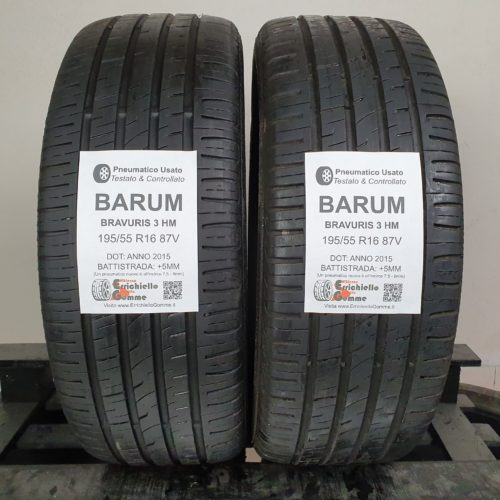 195/55 R16 87V Barum Bravuris 3 HM – 60% +5mm – Gomme Estive