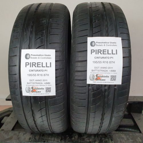195/55 R16 87H Pirelli Cinturato P1 – 50% +4mm – Gomme Estive