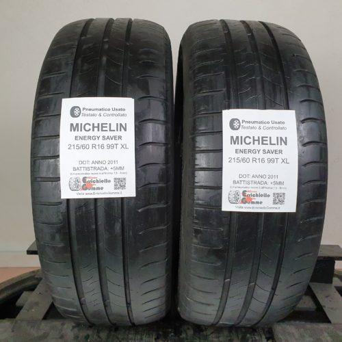 215/60 R16 99T XL Michelin Energy Saver – 60% +5mm Gomme Estive