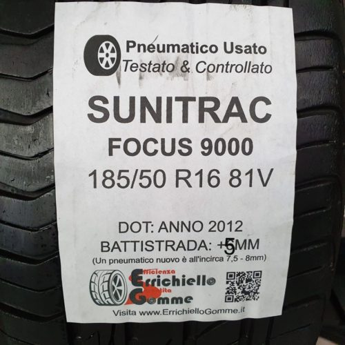185/50 R16 81V Sunitrac Focus 9000 –  60% +5mm – Gomme Estive