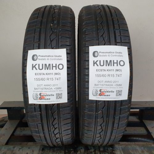 155/60 R15 74T Kumho Ecsta KH11 (MO) – 60% +5mm – Gomme Estive