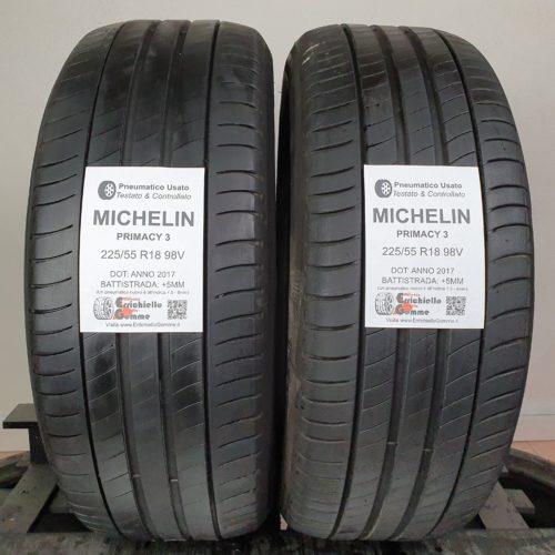 225/55 R18 98V Michelin Primacy 3 – 60% +5mm – Gomme Estive