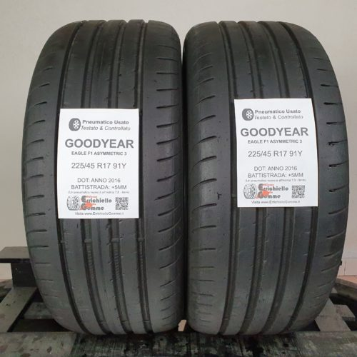 225/45 R17 91Y Goodyear Eagle F1 Asymmetric 3 –  60% +5mm – Gomme Estive