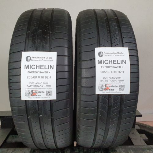 205/60 R16 92H Michelin Energy Saver+ –   60% +5mm – Gomme Estive