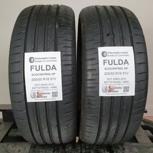 205/55 R16 91V Fulda EcoControl HP – 50% +4mm – Gomme Estive
