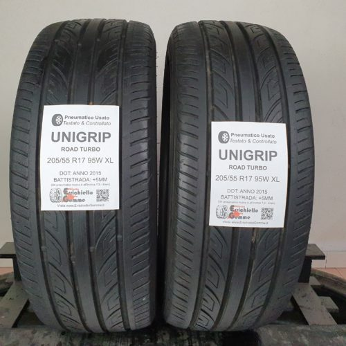 205/55 R17 95W XL Unigrip Road Turbo –  60% +5mm – Gomme Estive