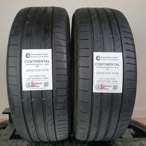 235/55 R19 101W Continental ContiSportContact 5 (SUV) (AO) –  50% +4mm – Gomme Estive