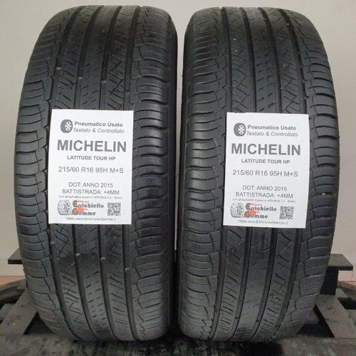 215/60 R16 95H M+S Michelin Latitude Tour HP –   50% +4mm – Gomme 4 Stagioni