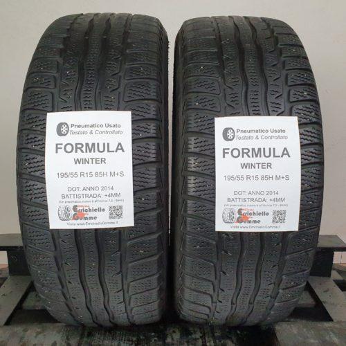195/55 R15 85H M+S Formula Winter –   50% +4mm – Gomme Invernali