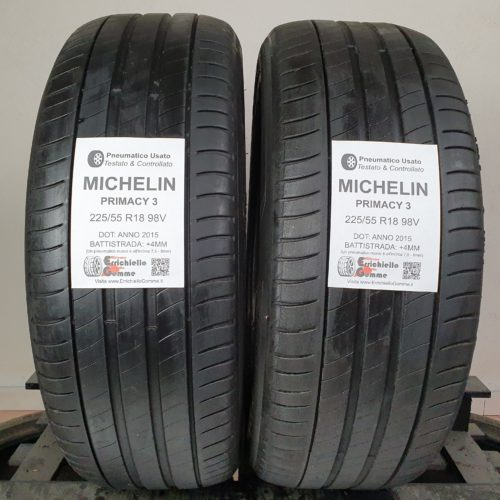 225/55 R18 98V Michelin Primacy 3 – 50% +4mm – Gomme Estive