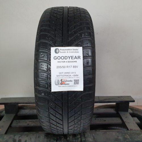 205/50 R17 89V Goodyear Vector 4 Seasons  – 60% +5mm – Gomma 4 Stagioni