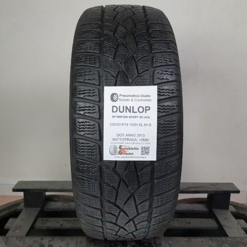 235/50 R19 103H XL M+S Dunlop SP Winter Sport 3D (AO)  – 60% +5mm – Gomma Invernale