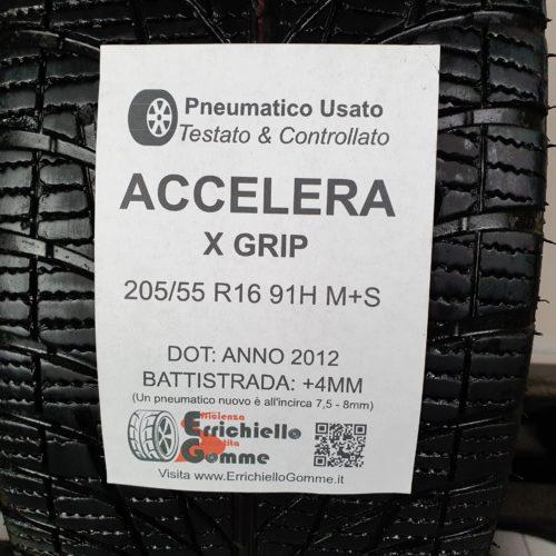 205/55 R16 91H M+S Accelera X Grip – 50% +4mm – Gomma 4 Stagioni