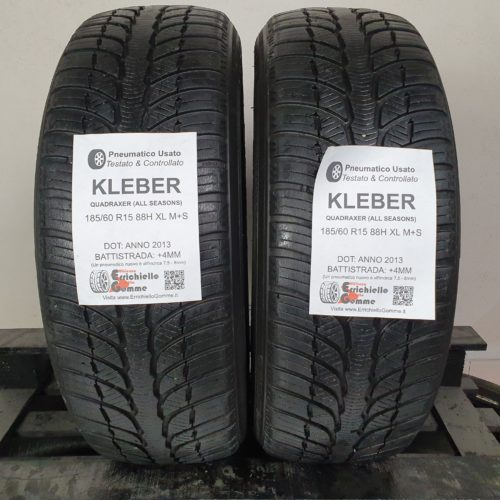 185/60 R15 88H XL M+S Kleber Quadraxer (All Seasons) – 50% +4mm – Gomme 4 Stagioni