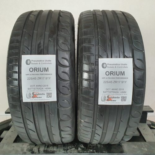 225/45 ZR17 91Y Orium UHP Ultra High Performance – 50% +4mm – Gomme Estive